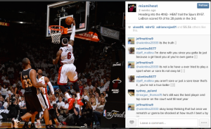 Miami Heat game photo-Instagram