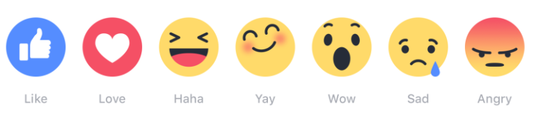 facebook reactions, emojis