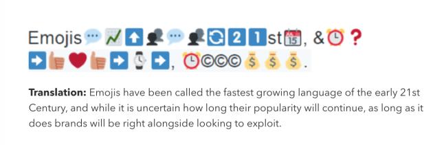 emojis language